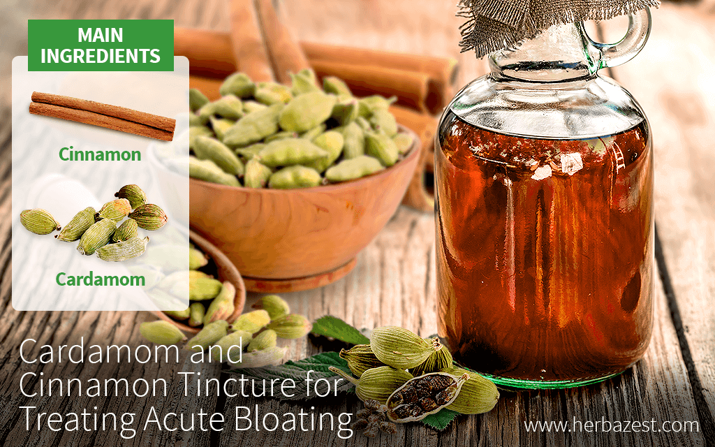 Cardamom and Cinnamon Tincture for Treating Acute Bloating