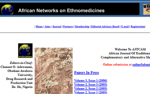 African Journal of Traditional, Complementary, and Alternative Medicines
