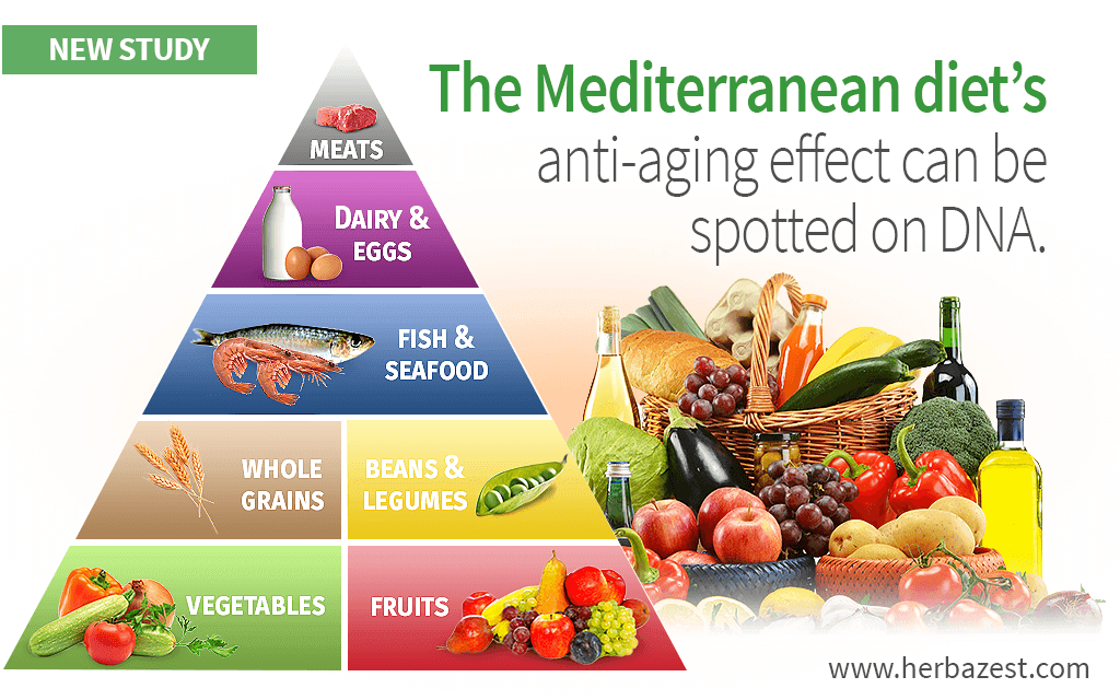 The Mediterranean diet's anti-aging effect can be spotted on DNA.