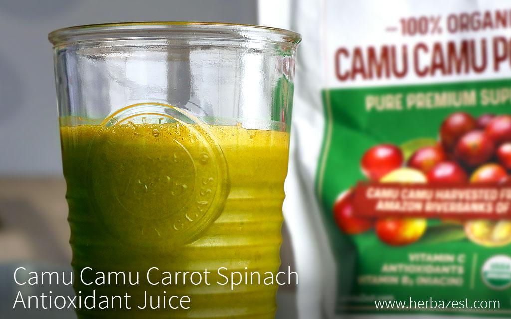 Camu Camu Carrot Spinach Antioxidant Juice