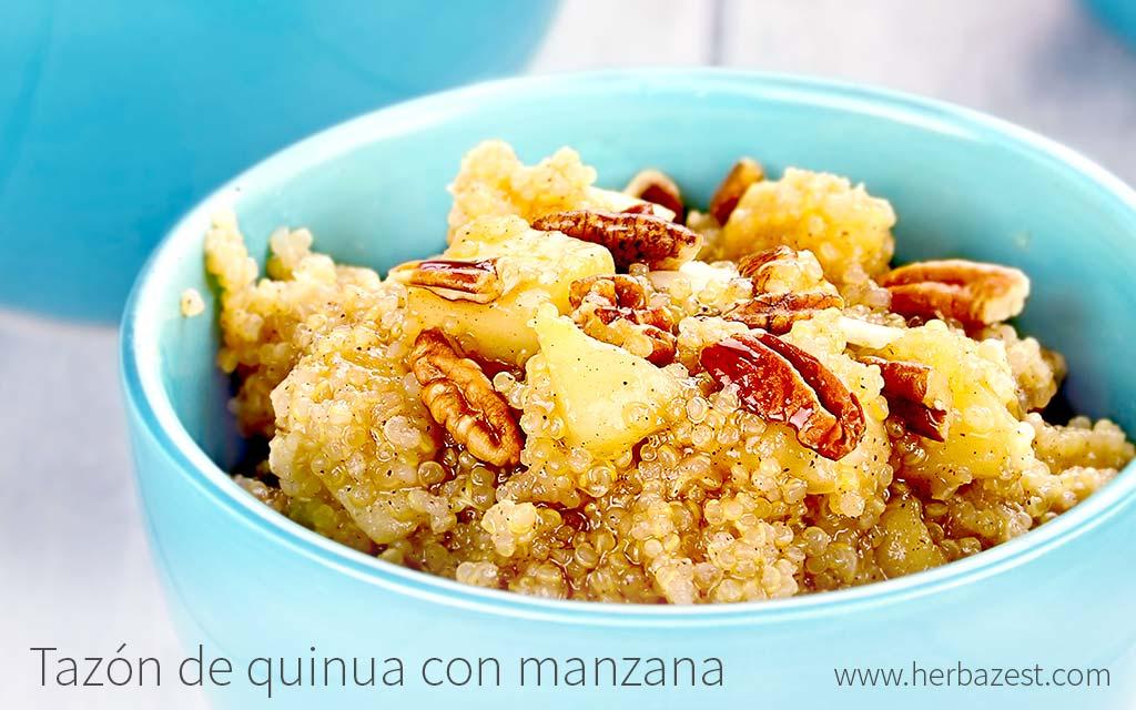 Tazón de quinua con manzana