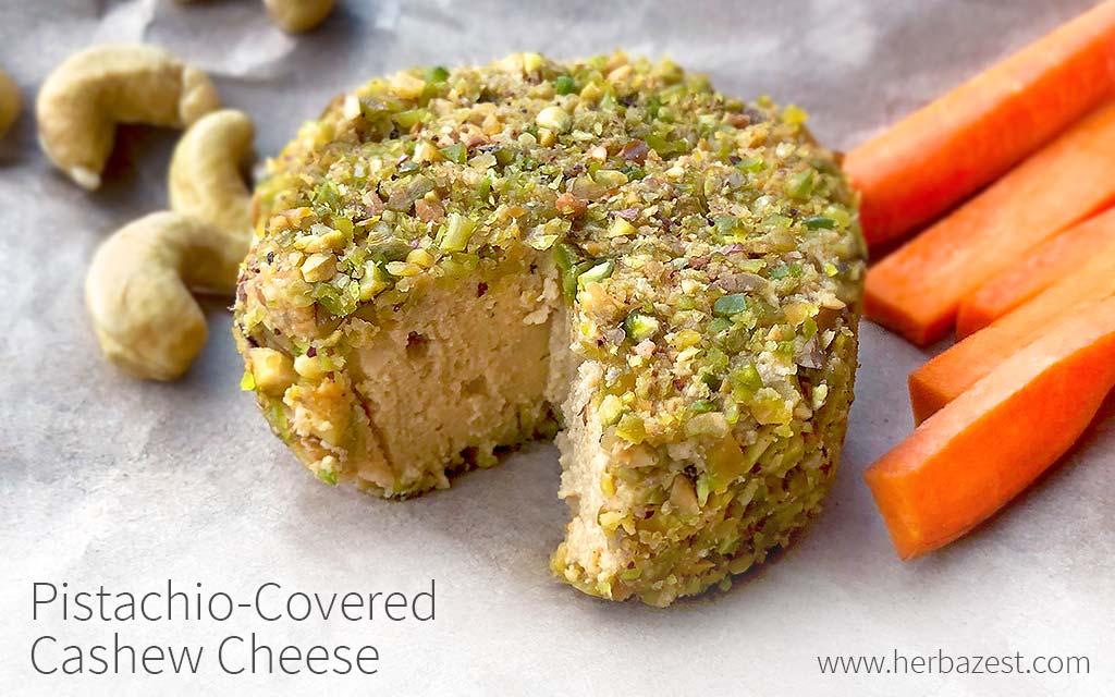 Pistachio-Covered Cashew Cheese