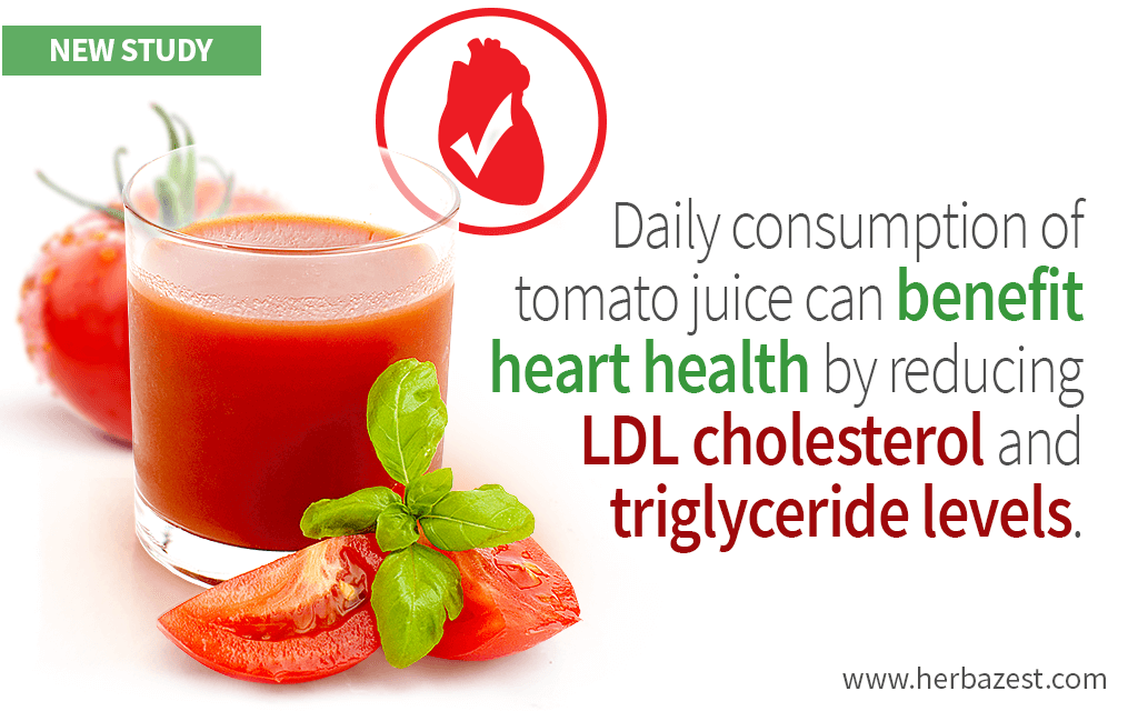 Tomato Juice's Cardiovascular Benefits Discovered by a Study