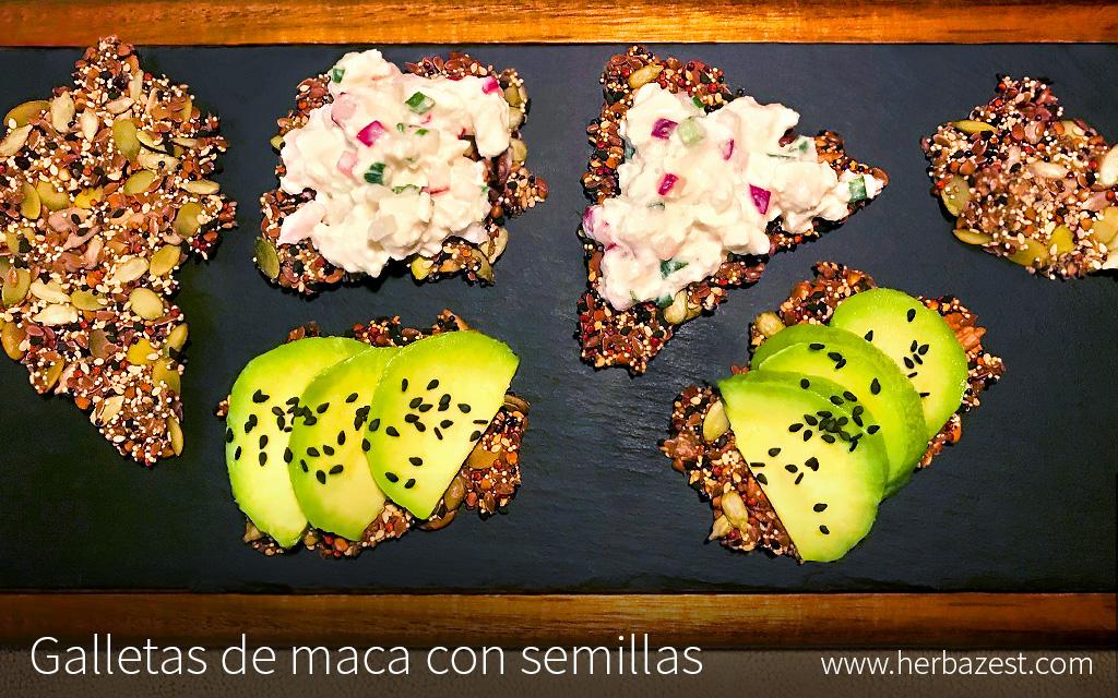 Galletas de maca con semillas