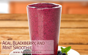 Acai, Blackberry, and Mint Smoothie