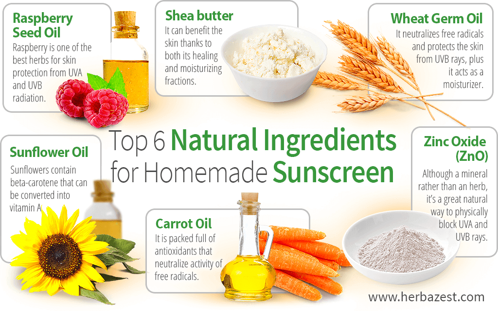 Top 6 Natural Ingredients for Homemade Sunscreen