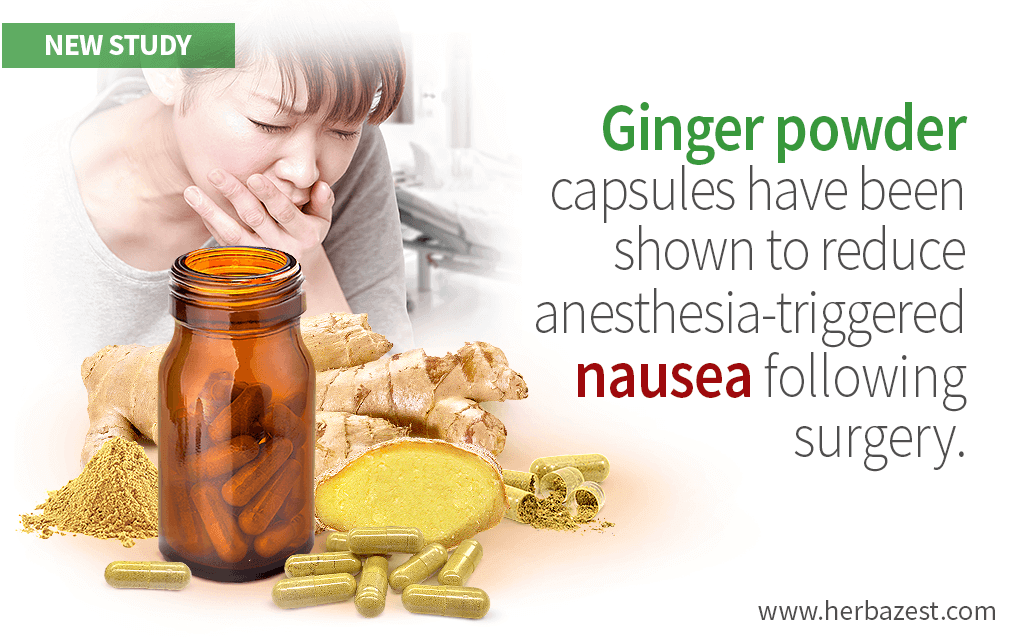Ginger Is Shown to Reduce Nausea After Surgery