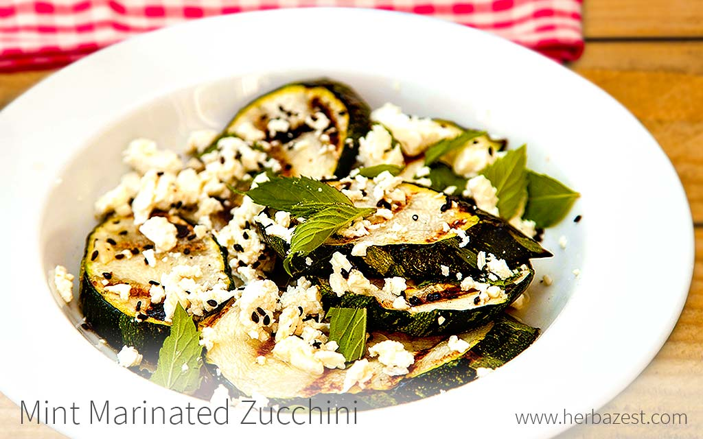 Mint Marinated Zucchini
