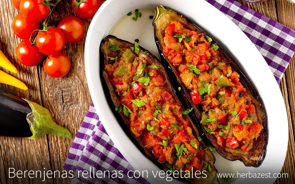 Berenjenas rellenas con vegetales