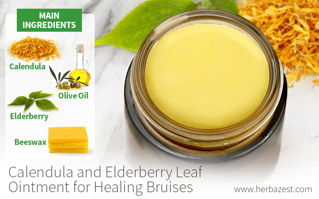 Calendula and Elderberry Leaf Ointment for Healing Bruises