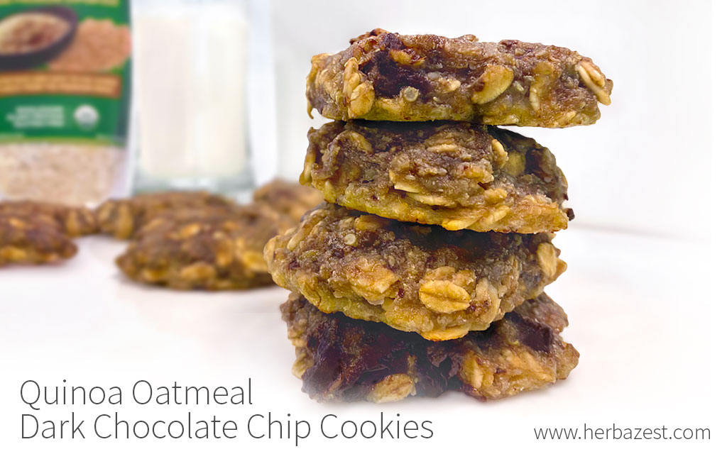 Quinoa Oatmeal Dark Chocolate Chip Cookies