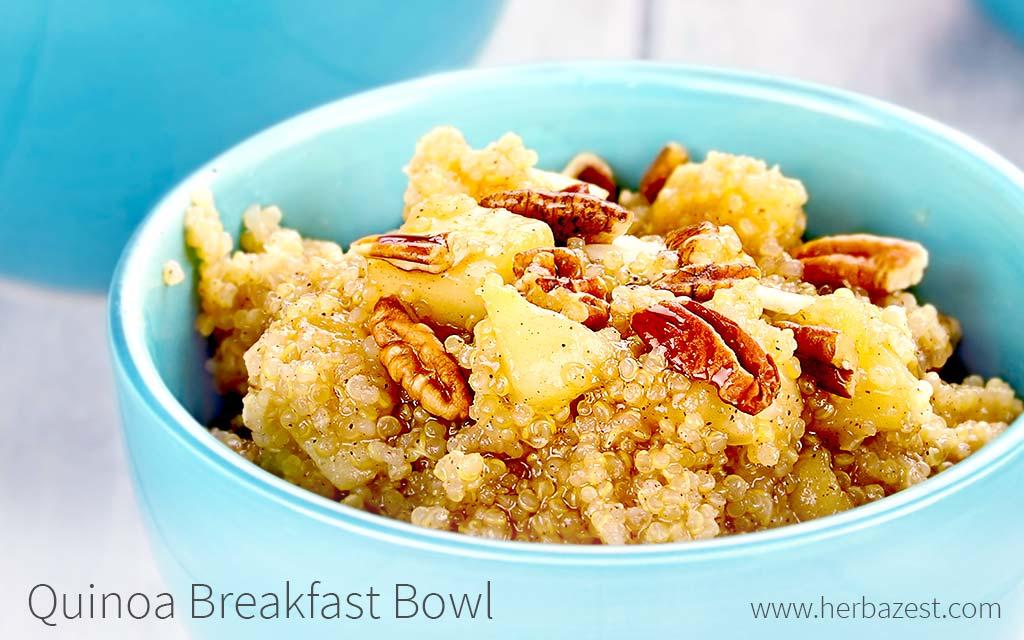 Quinoa Breakfast Bowl | HerbaZest