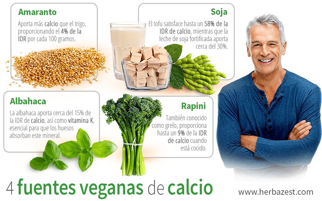 4 fuentes veganas de calcio