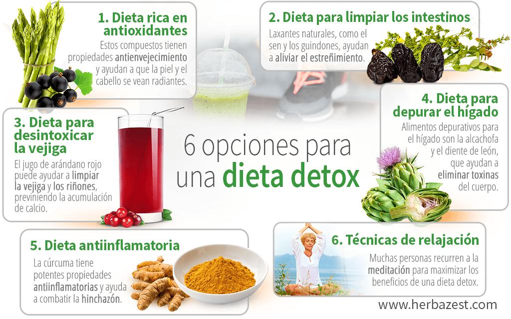 6 opciones para una dieta detox