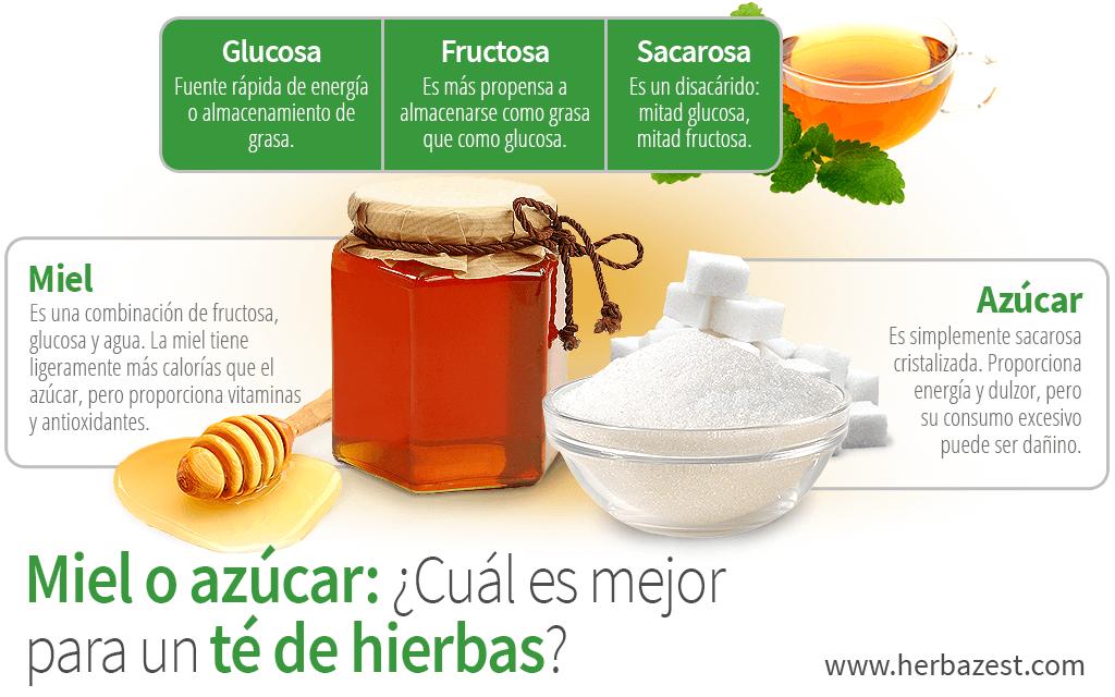 Miel o azúcar: ¿Cuál es mejor para un té de hierbas?