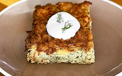 Potato Kugel with Dill