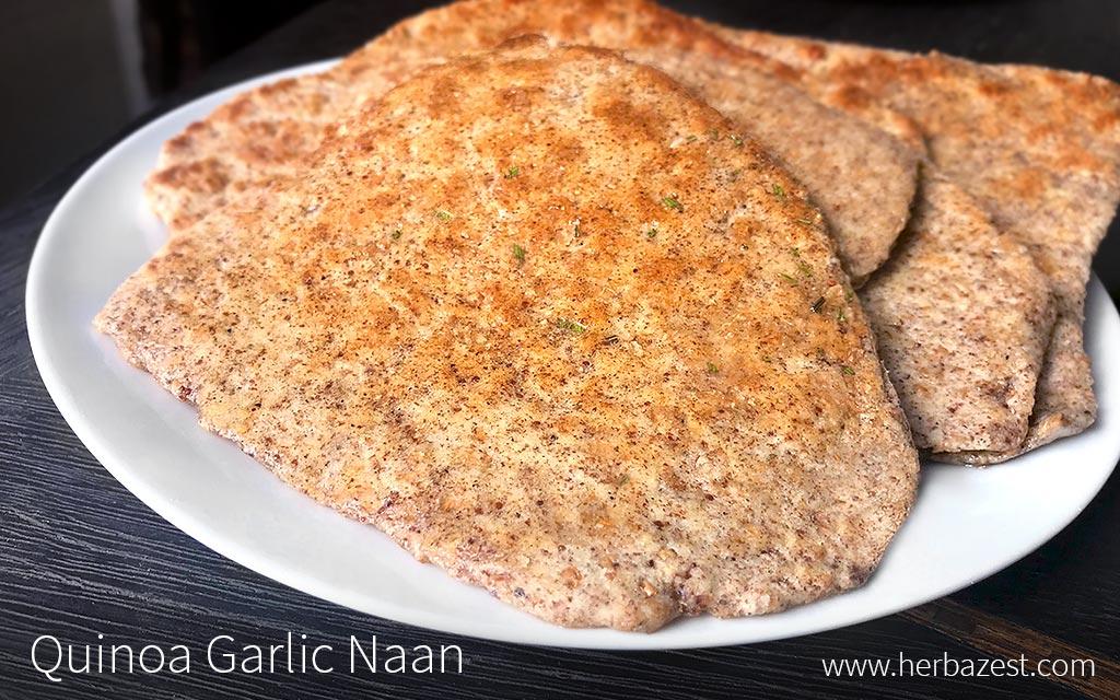 Quinoa Garlic Naan