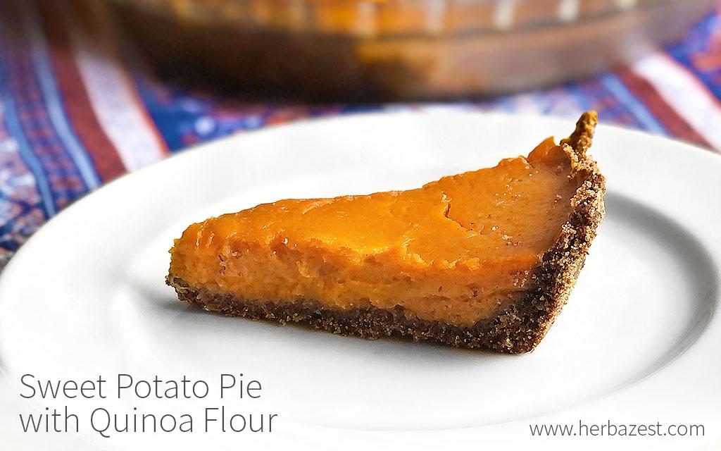 Sweet Potato Pie with Quinoa Flour