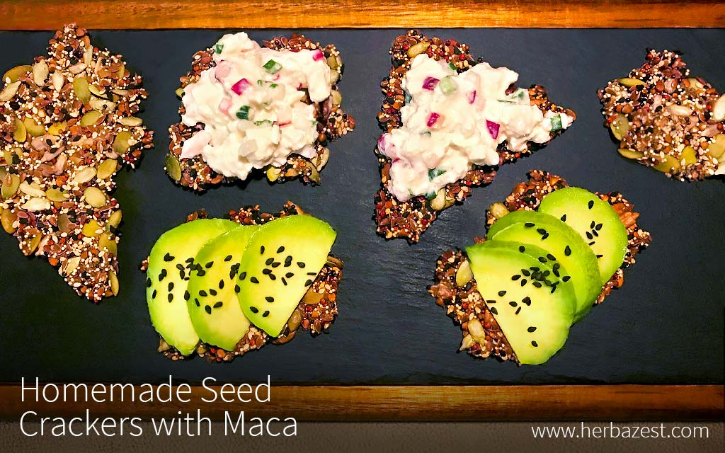 Homemade Seed Crackers with Maca
